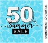 summer sale banner with water... | Shutterstock .eps vector #649406731