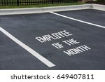 employee of the month sign on... | Shutterstock . vector #649407811