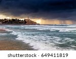 view of the old city of jaffa... | Shutterstock . vector #649411819