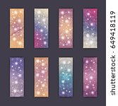 banner card set with floral... | Shutterstock .eps vector #649418119