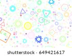 abstract colored mixed shape... | Shutterstock .eps vector #649421617
