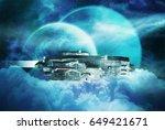 original 3d illustration. space ... | Shutterstock . vector #649421671