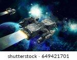 original 3d illustration. space ... | Shutterstock . vector #649421701