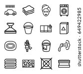 wash icons set. set of 16 wash... | Shutterstock .eps vector #649422985