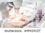 science concept. microscope...   Shutterstock . vector #649424137