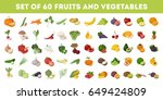 fruits and vegetables. | Shutterstock .eps vector #649424809