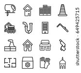 construction icons set. set of... | Shutterstock .eps vector #649425715