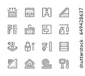 set line icons of insulation | Shutterstock .eps vector #649428637