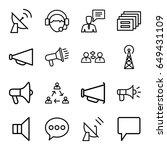 communicate icons set. set of... | Shutterstock .eps vector #649431109