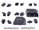 collection of stone mineral... | Shutterstock . vector #649432021