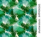 seamless pattern tropical palm...   Shutterstock .eps vector #649436161