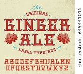"""original """"ginger ale"""" label...   Shutterstock .eps vector #649441015"""