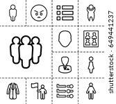 user icon. set of 13 outline...   Shutterstock .eps vector #649441237