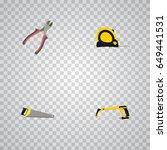 realistic length roulette ... | Shutterstock .eps vector #649441531