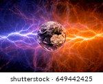 earth apocalypse in the fire... | Shutterstock . vector #649442425