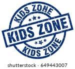 kids zone blue round grunge... | Shutterstock .eps vector #649443007