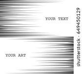 comic book speed lines. black... | Shutterstock .eps vector #649450129