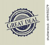 blue great deal distressed...   Shutterstock .eps vector #649450279