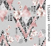 japanese seamless pattern with... | Shutterstock . vector #649450711