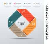 vector abstract 3d digital... | Shutterstock .eps vector #649451044