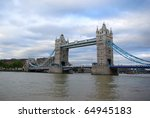 view on thames and tower bridge ... | Shutterstock . vector #64945183