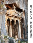 ancient  tombs in Turkey - stock photo