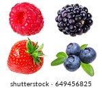 strawberry raspberry... | Shutterstock . vector #649456825