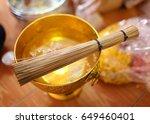 set of object for thai wedding... | Shutterstock . vector #649460401