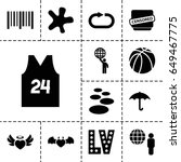 grunge icon. set of 13 filled...   Shutterstock .eps vector #649467775