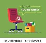 pile of poo emoji is sitting on ... | Shutterstock .eps vector #649469065