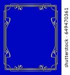 art nouveau frames for print... | Shutterstock . vector #649470361