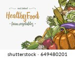 fresh vegetables background... | Shutterstock .eps vector #649480201