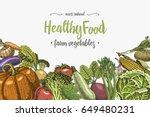 fresh vegetables background... | Shutterstock .eps vector #649480231