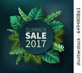 hello summer  summertime. the... | Shutterstock .eps vector #649480861