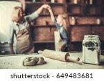 beautiful grandma and... | Shutterstock . vector #649483681