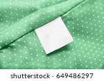 white blank clothes label on... | Shutterstock . vector #649486297
