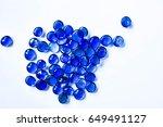 lump of blue marbles | Shutterstock . vector #649491127