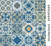 traditional ornate portuguese... | Shutterstock .eps vector #649492669