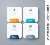 business infographics template... | Shutterstock .eps vector #649495855