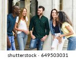 multi ethnic group of young... | Shutterstock . vector #649503031