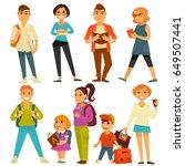 university students and school... | Shutterstock .eps vector #649507441