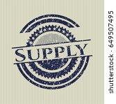 blue supply distress grunge seal   Shutterstock .eps vector #649507495