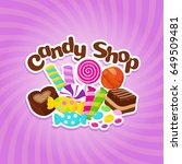 sugar sweets vector background... | Shutterstock .eps vector #649509481
