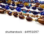 Colourful Beads Background On...