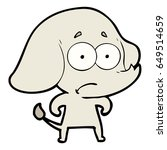 cartoon unsure elephant   Shutterstock .eps vector #649514659