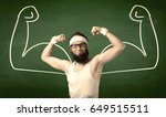 a young man with beard and... | Shutterstock . vector #649515511