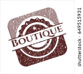 red boutique rubber stamp with...   Shutterstock .eps vector #649515931