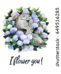watercolor cute animals... | Shutterstock . vector #649516285