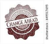 red change ahead distressed...   Shutterstock .eps vector #649517695