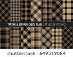 brown tartan and buffalo check... | Shutterstock .eps vector #649519084
